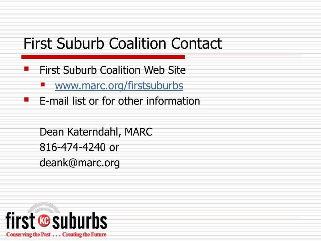 First Suburb Coalition Contact