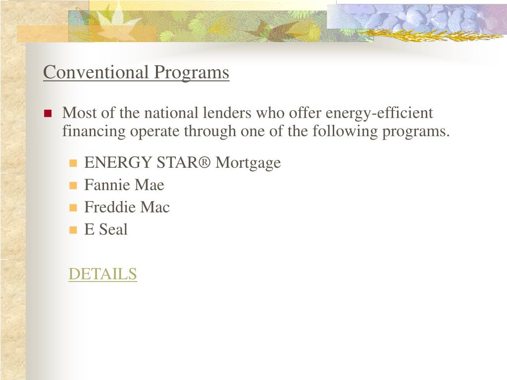 Conventional Programs