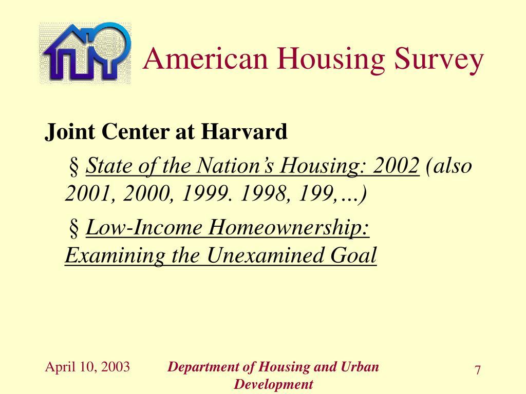 American Housing Survey