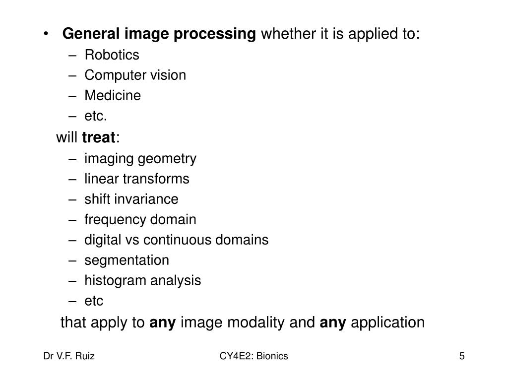 General image processing