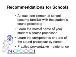 recommendations for schools