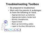 troubleshooting toolbox