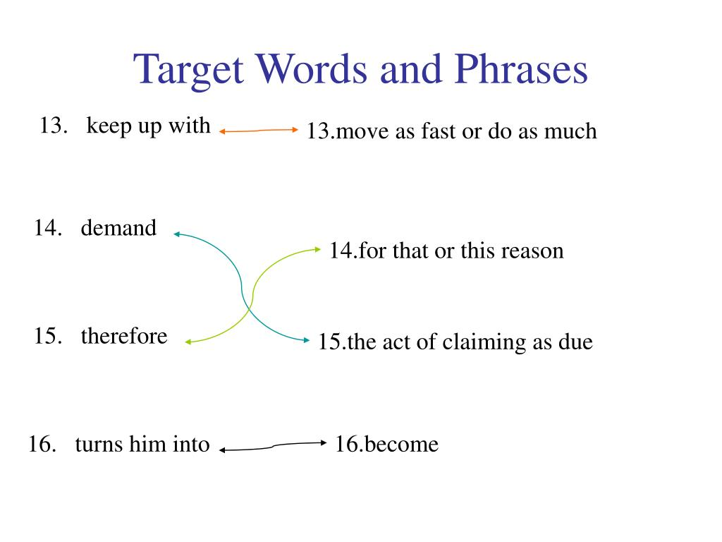 Target Words and Phrases