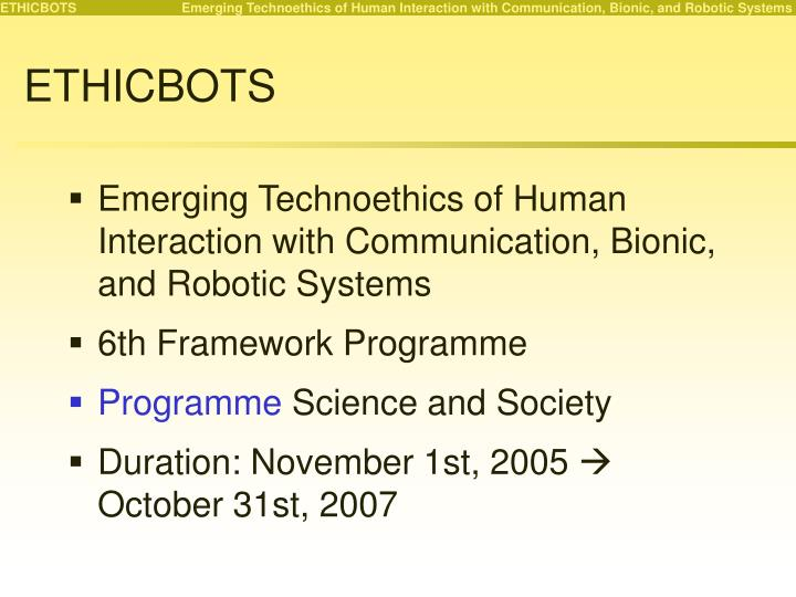 Ethicbots