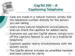 captel 200 a captioning telephone