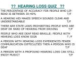 hearing loss quiz