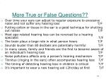 more true or false questions