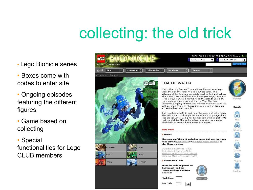 collecting: the old trick