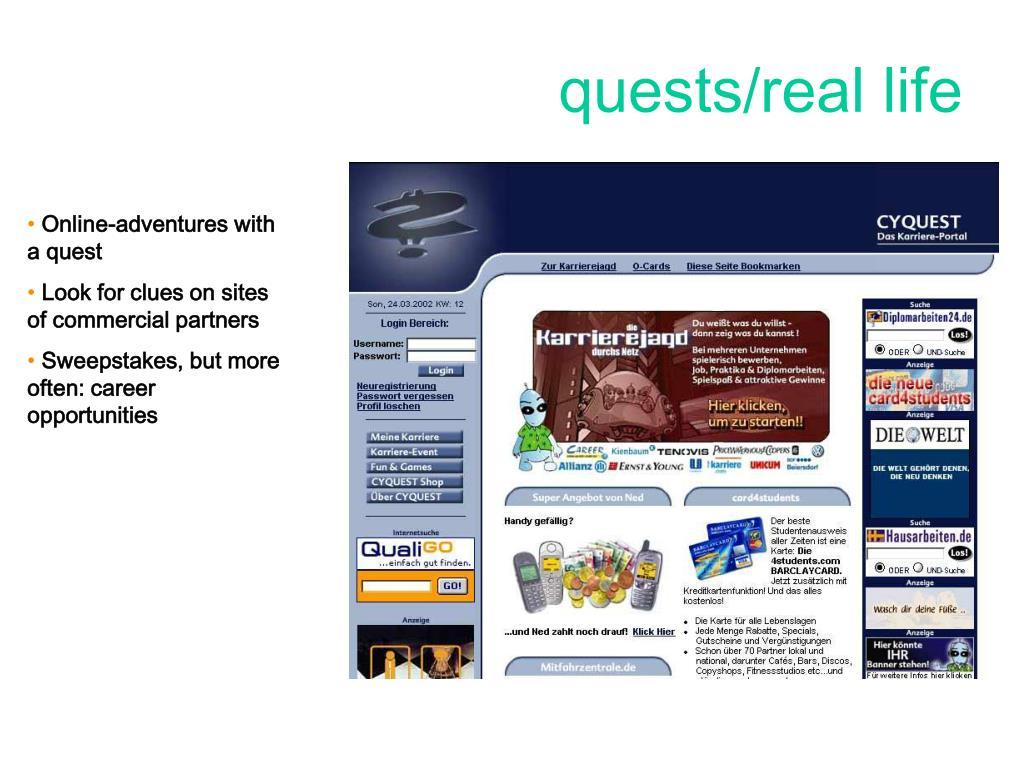 quests/real life