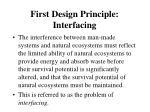 first design principle interfacing