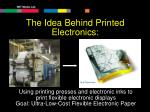 the idea behind printed electronics
