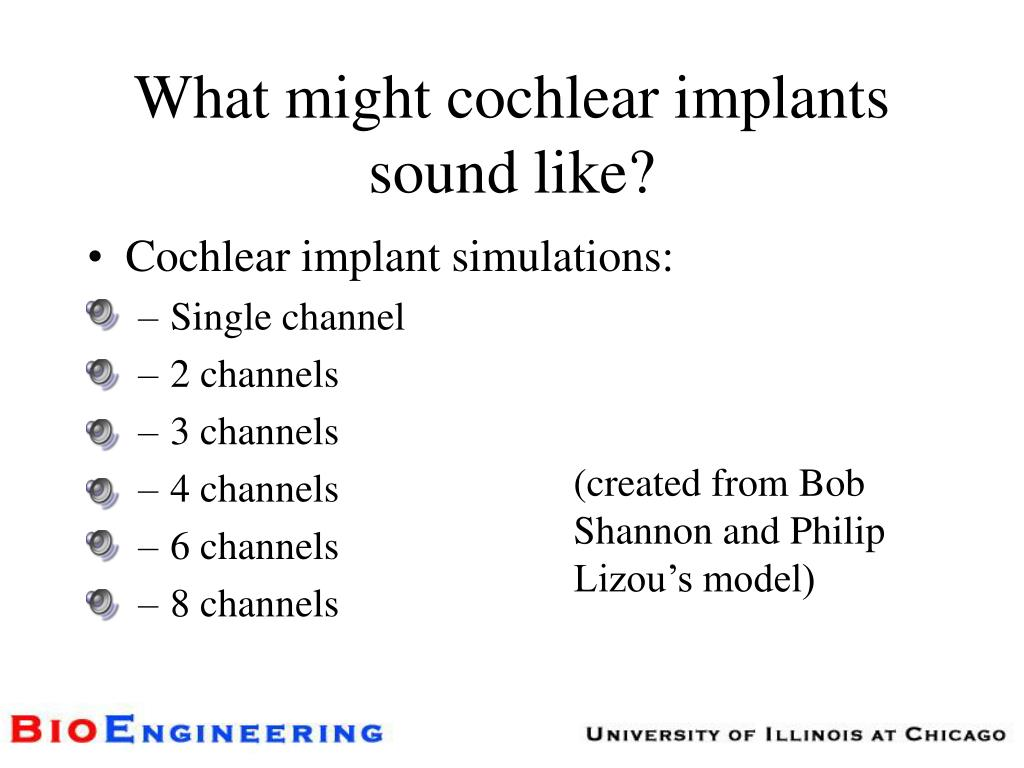 What might cochlear implants sound like?