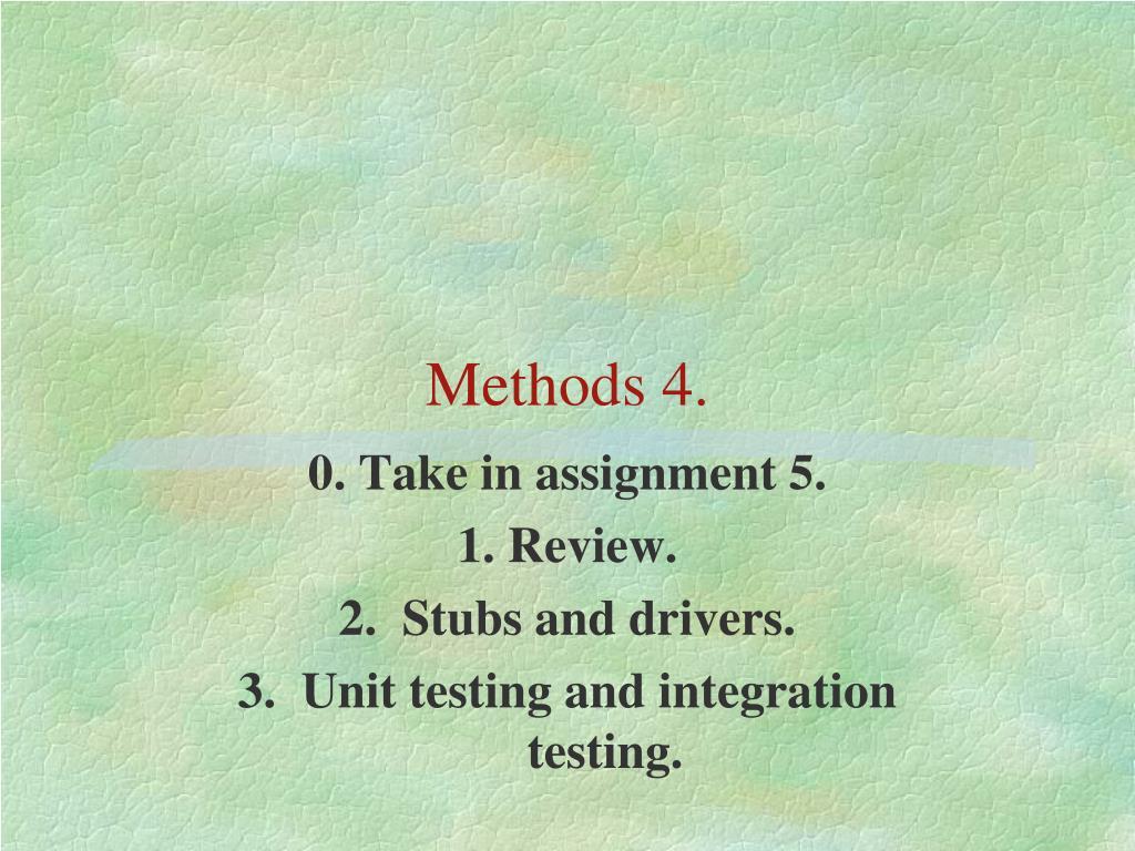 methods 4 l.