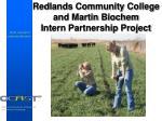 redlands community college and martin biochem intern partnership project