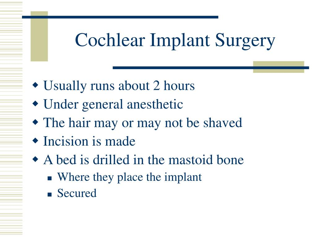 Cochlear Implant Surgery