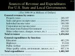sources of revenue and expenditures for u s state and local governments