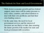 the outlook for state and local governments