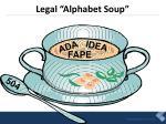 legal alphabet soup