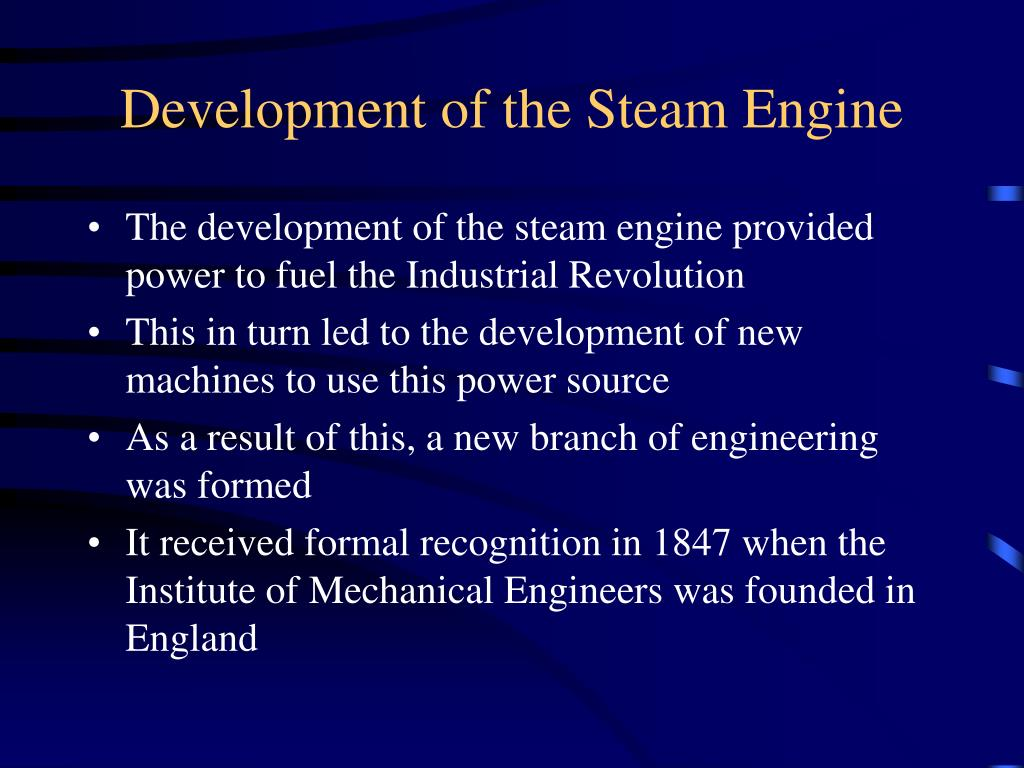 Development of the Steam Engine