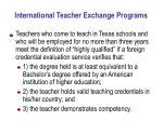 international teacher exchange programs
