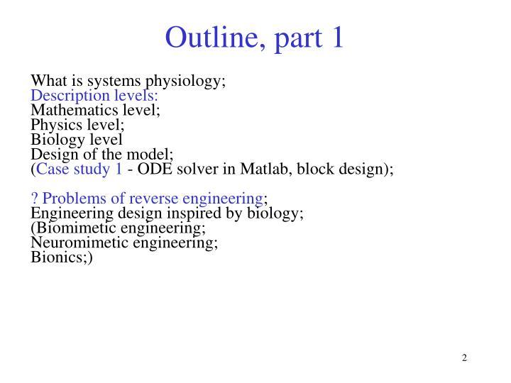 Outline part 1