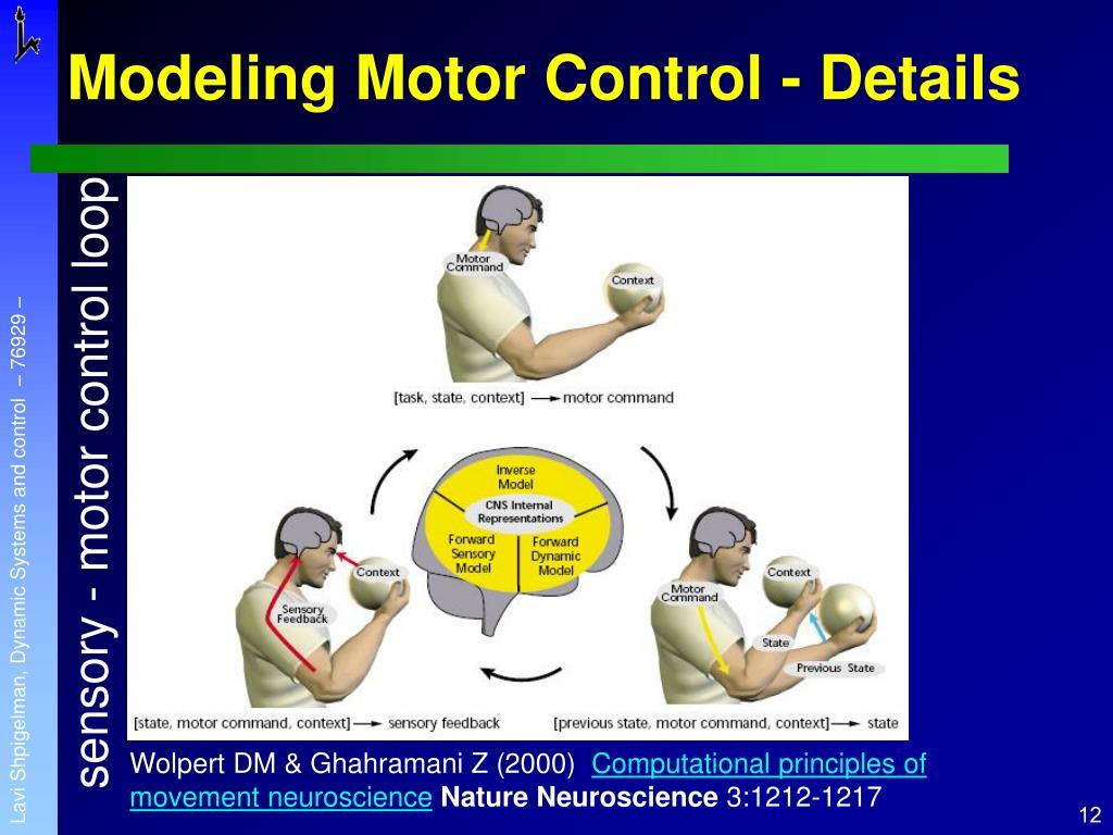Modeling Motor Control - Details