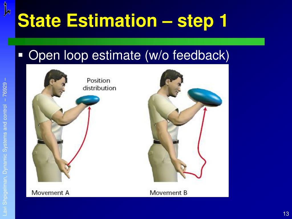 State Estimation – step 1