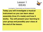 lesson 1 ideas investigative disassembly and evaluative activities