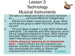lesson 3 technology musical instruments