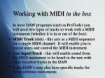 working with midi in the box