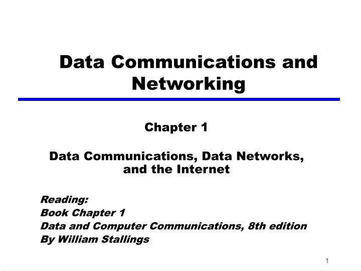 data communications and networking n.