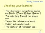 checking your learning