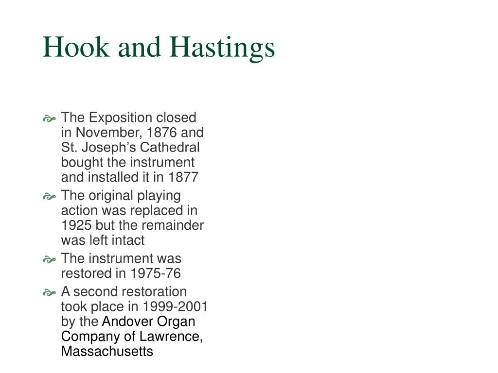Hook and Hastings