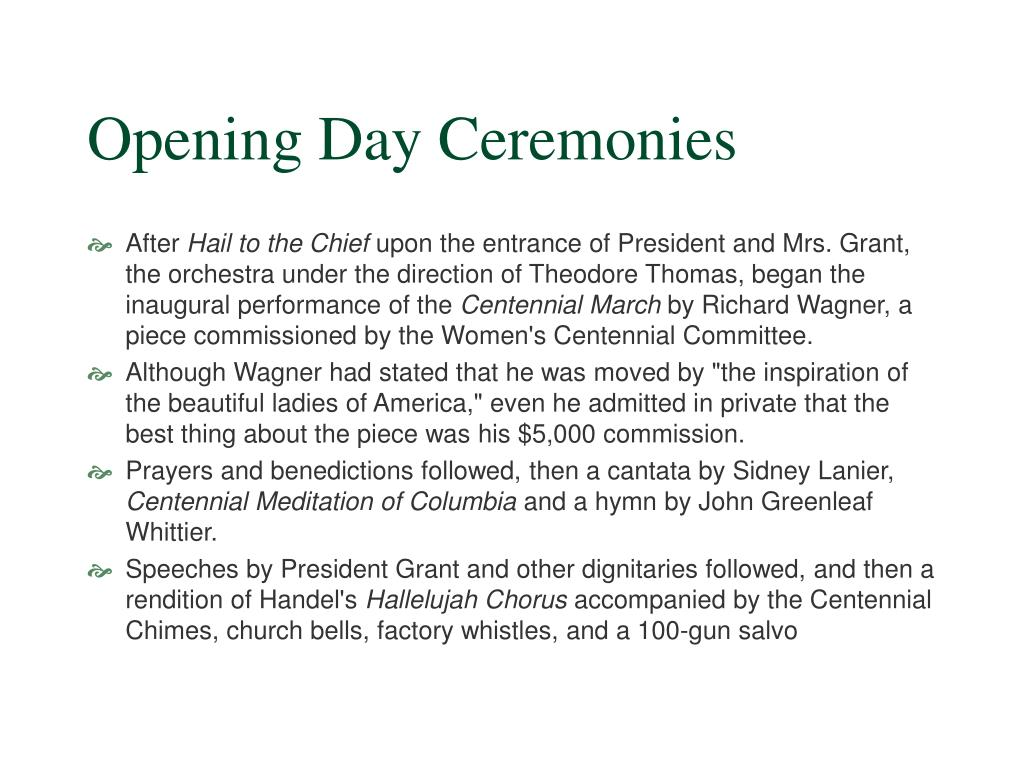 Opening Day Ceremonies