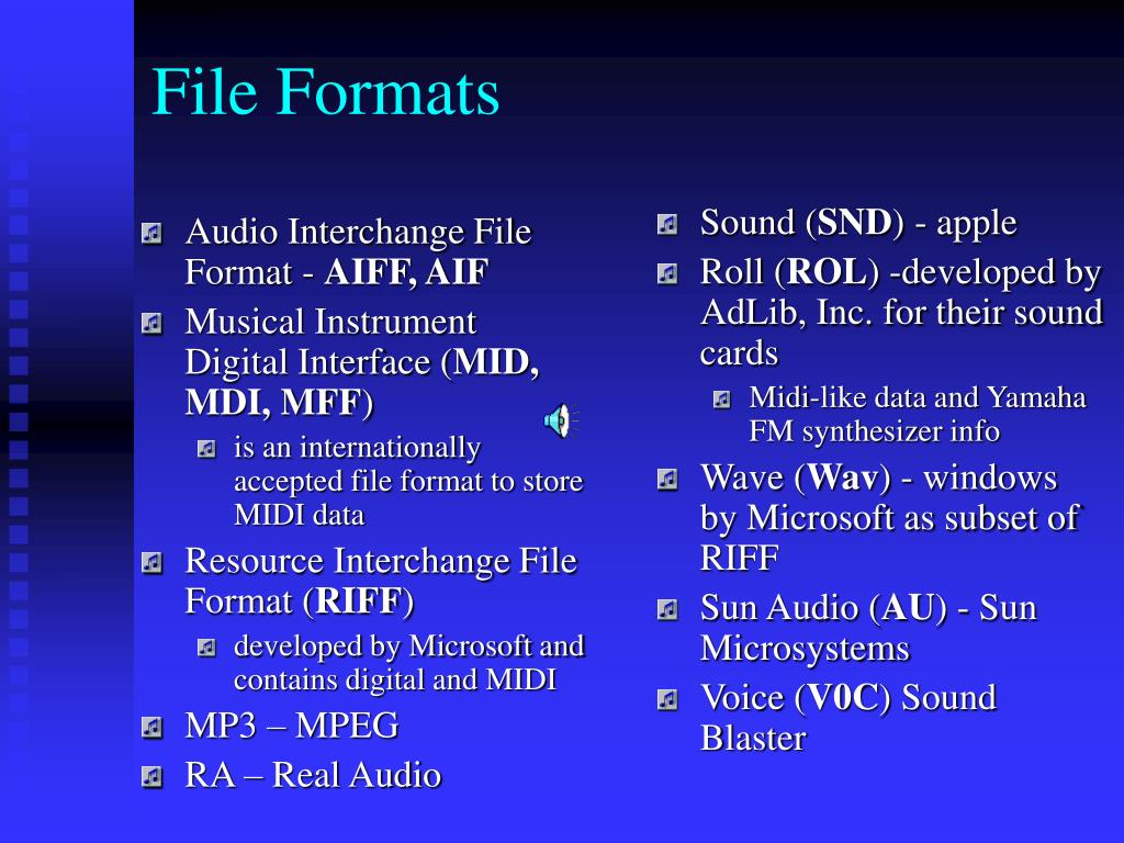 Audio Interchange File Format -