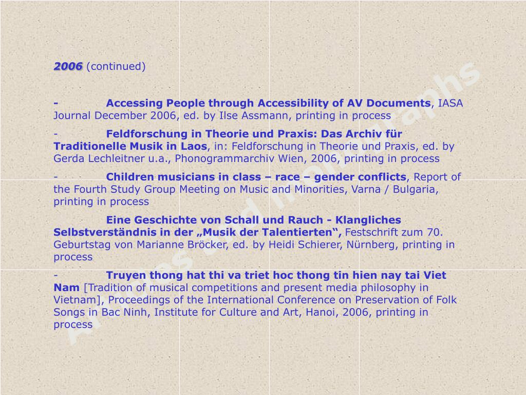 Articles and monographs