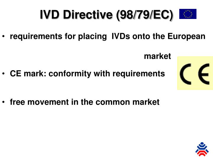 Requirements for placing ivds onto the european market