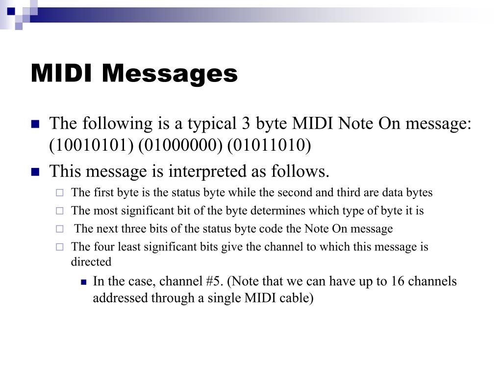 MIDI Messages