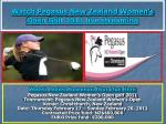 watch pegasus new zealand women s open golf 2011 live streaming