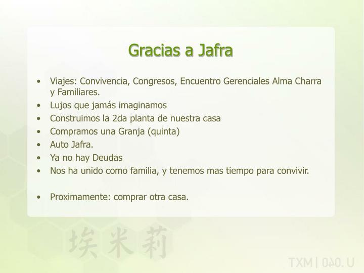 Gracias a Jafra
