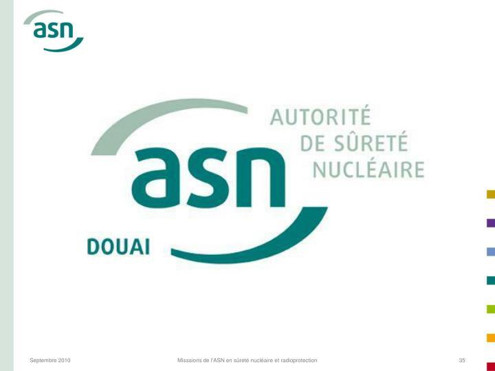 Misssions de l'ASN en sûreté nucléaire et radioprotection