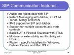 sip communicator features