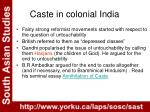 caste in colonial india