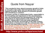 quote from nayyar