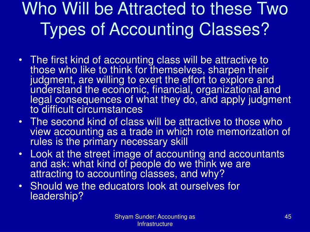 Who Will be Attracted to these Two Types of Accounting Classes?