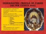 demographic profile of parsis as per census 2001