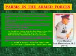 parsis in the armed forces