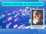 tata s century of excellence