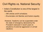 civil rights vs national security