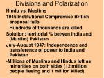 divisions and polarization